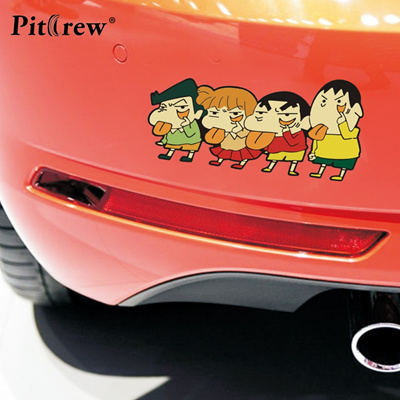 1pc 18 7 9cm Cute Crayon Shin Chan Lovely Kids Anime Cartoon Car Styling Motorcycle Car Stickers And