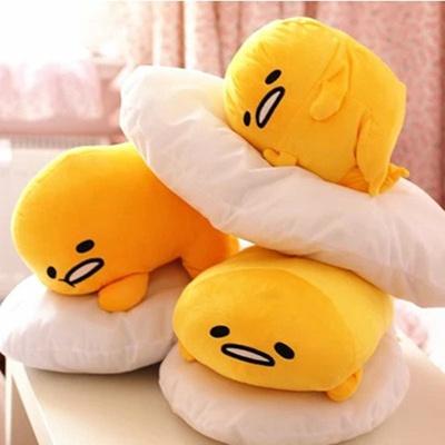 9b726e9fd59 Qoo10 - 1pc 40 30cm Gudetama lazy egg Eggs jun Egg yolk brother large doll  pil...   Toys