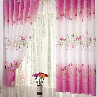 Qoo10 1pc Country Style Butterfly Short Window Curtains For