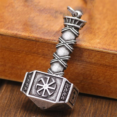 1pc ping Slavic Amulet kolovrat Svarog Hammer Pendant Nordic Jewelry  Talisman Pendants