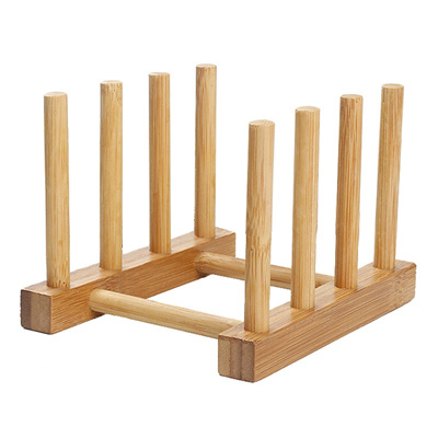 1pcs bamboo Drainer Plate Stand Wood Dish Rack 3 Pots Cups Display Holder Kitchen XN720  sc 1 st  Qoo10 & Qoo10 - 1pcs bamboo Drainer Plate Stand Wood Dish Rack 3 Pots Cups ...