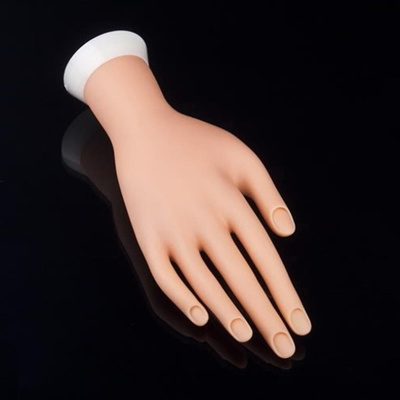 1pcs Painting Practice Tool Adjule Nail Art Model Fake Hand For Training And Display Whole