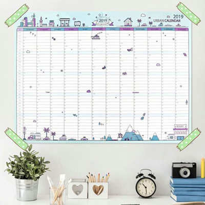 Terrific 1Sheet 2019 New 365 Day Calendar Learning Schedule Periodic Planner Table Beutiful Home Inspiration Truamahrainfo