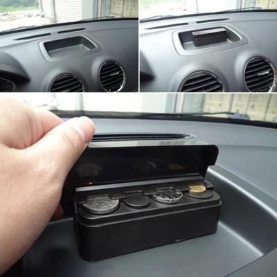 Auto Coin Organizer Money Storage Box Car Coin Case Holder Money Organizer LI