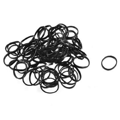 Qoo10 - 2 Bags Black Elastic Plastic Band Hair Tie Poneytail Holders    Fashion Accessories ad100868561