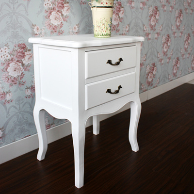 detailing df90f 1d804 2 drawer Victoria bedside table cabinet night stand bedroom side tables bed  end defect clearance