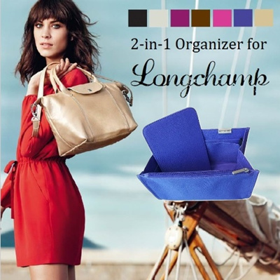 f182d9a9812 2-in-1 Organizer for Longchamp Totes. With removable base support. Diaper