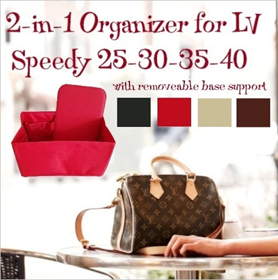 587c10fa 2-in-1 Organizer for LV Louis-Vuitton Speedy 25 30 35 40. With removable  base support