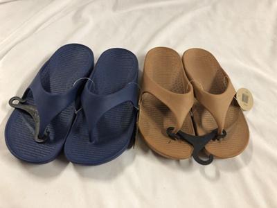 783aecbfaa9 Qoo10 - 2 pairs Pali Hawaii Thong Sandals.One Navy  One Brown