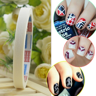 Qoo10 2 Pcs 17m Beauty White Stripe Tape Roll Nail Art Edge Guide