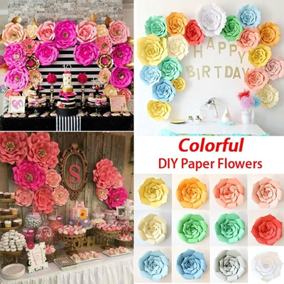 Qoo10 2030cm Diy Paper Flowers Handmade Crafts Kids Birthday
