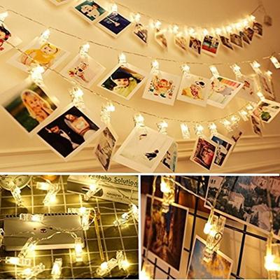 wholesale dealer cf77c 6f077 20 LED Photo Clip String Lights,FANSIR 3 Modes 7.2 ft LED Clips Lights  Battery Powered String Lights