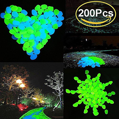 200pcs glow in the dark garden pebbles stone decorative glow stones path lights outdoor gravel stone - Glow In The Dark Garden Pebbles