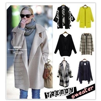 qoo10 2014 new women winter sweater sweaters coat