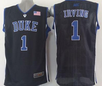 be7874c9969 2014 NWT Duke Blue Devils #1 Kyrie Irving Jersey Blue Duke White Black  Performance College
