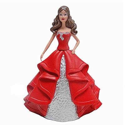 Barbie Christmas Ornament.2015 Mattel Holiday Barbie Christmas Ornament Brown Hair