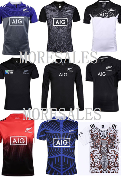 b3e36c8861d Qoo10 - 2016 2017 2018 2019 NZ All Blacks Rugby Jersey jersi New Zealand  Maori... : Sportswear