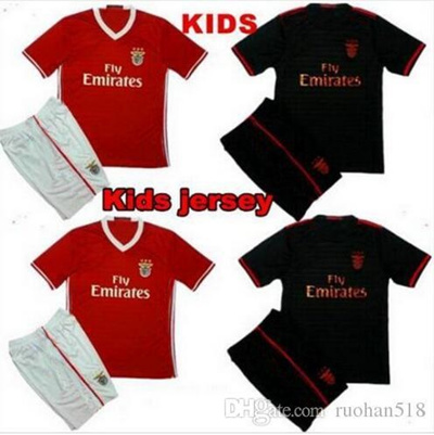 outlet store 815f4 677a9 2016 2017 Benfica Jersey Kids kit Soccer 16 17 Benfica jersey Children  youth Kits Lisboa Football sh
