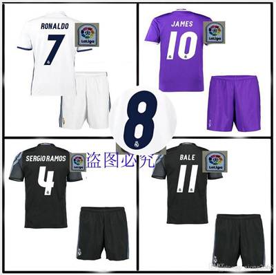 e269a3d09 Qoo10 - 2016 2017 high Quality Real madrid jerseys kit home away 3RD  Jerseys k...   Sports Equipment