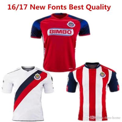 super popular 2725c b8794 2016 2017 Soccer Jersey Chivas Guadalajara camisetas de futbol Chivas New  Red Jersey Deportivo O.BRA