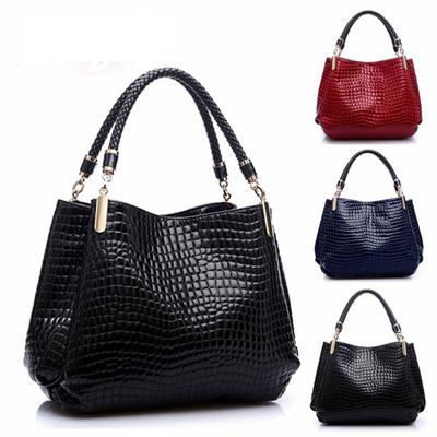 87d7c63fa334 2016 Alligator Leather Women Handbag Bolsas De Couro Fashion Famous Brands  Shoulder Bag Black Bag La