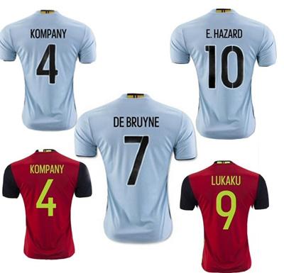 huge discount 7eef5 fec09 2016 Belgium Soccer Jersey Kompany LUKAKU Belgium home away soccer shirt