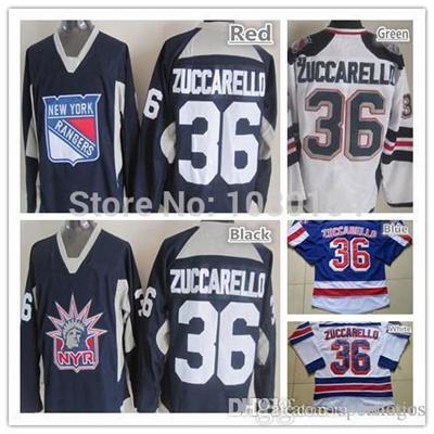 reputable site 1878c 6c8bc 2016 Best New York Hockey Jerseys Rangers #36 Mats Zuccarello Jersey Home  Blue Road White Zuccarello