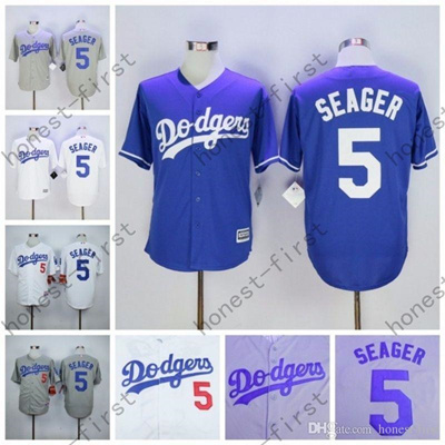 sale retailer 55a77 f12a6 2016 Corey Seager Jersey 5# Home Away White Grey Los Angeles Dodgers  Uniforms
