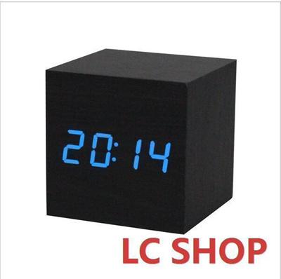 Qoo10   2016 Digital LED Black Wooden Wood Clocks Desk Home Fashion Modern  Ala... : Furniture U0026 Deco