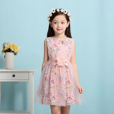 31770677072 2016-Girl Dress Children Girls Top Kids Clothes Kids Princess Dresses