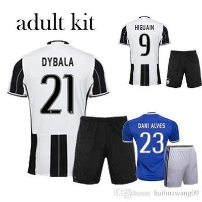 buy online 73e0c dc2ae 2016 Juve Maglia Juventus Soccer Jersey Dybala zebra Away Third Higuain  Chiellini Pjanic Pjaca Kits