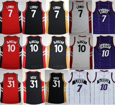 2f8ee84c3680 ... sale 2016 men s 10 demar derozan jersey throwback 7 kyle lowry  basketball jerseys sports 31