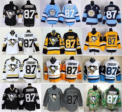 e4df57bd6 Qoo10 - 2016 New, Pittsburgh Penguins Hockey Jerseys Ice 87 Sidney Crosby  Jers...   Sports Equipment