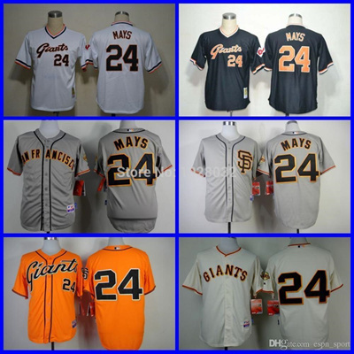 new concept 39c8b 9b049 2016 New 2014 NEW Arrival San Francisco Giants Jersey #24 Willie Mays Gray  SF & Throwback White/Blac