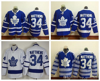 85f82361d8c ... france 2016 new draft toronto maple leafs jersey blue 34 auston matthews  ice hockey jerseys winter