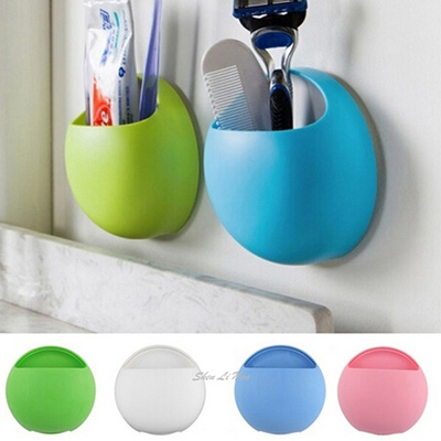2016 New Fashion Toothbrush Holder Bathroom Kitchen Family Toothbrush  Suction Cups Holder Wall Stand 097fc7a557