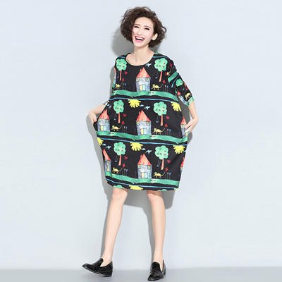 2016 New Spring Maternity Dress Clothes For Pregnant Women Plus Size Cotton O Neck Clothing