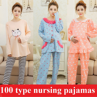 2016 Nursing Breastfeeding Pyjamas short sleeve summer Pajamas Confinement Maternity  Sleepwear Hot seller Pregnant women pajamas f5b4617c1