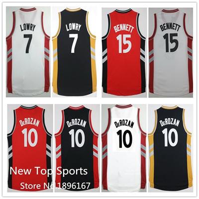 big sale 7c8a9 c8089 2016 NWT #7 Kyle Lowry Jersey Gold Red Black White #10 Demar DeRozan Jersey  #15 Anthony Bennett Bask