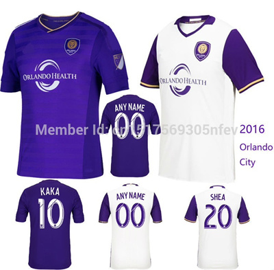 online store e3c49 aea18 2016 Orlando City Soccer Jersey 15 16 Home purple Away white Orlando City  jersey Kaka Brek Shea Aure