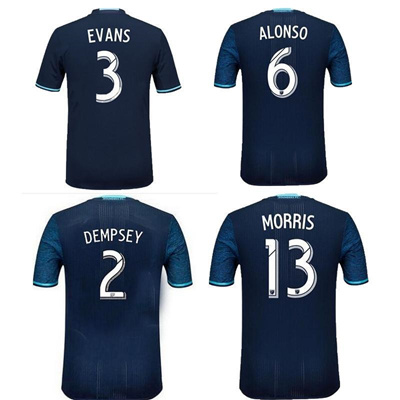 huge selection of 5af25 04170 2016 Seattle Sounders football Dempsey Alonso Soccer Jersey 16 17 Shirt  Seattle Sounders Martins