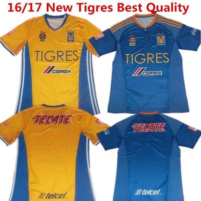 best service 398f2 e80e6 2016 Soccer Jersey Mexico Tigres UANL Maillot de foot Andre Gignac 2017  White Football Shirts Guerro