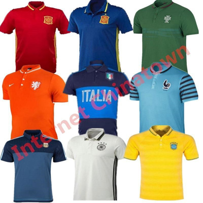 promo code 92775 0530c 2016 Soccer Jerseys Brazil POLO Shirt Ozil Thomas Muller camisetas de  futbol 2017 Spain Red Polo Jer