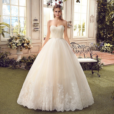 Qoo10 - 2016 Sweetheart Lace Tulle Ball Gown Wedding Dresses Vintage ...