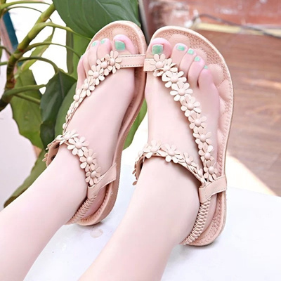 ed4a17cd70e45 2016 Womens shoes woman sandals Bohemia summer sandal shoes pinch the new  clip toe flowers flat