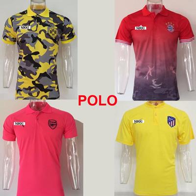 qoo10 2017 2018 men soccer polo 17 18 barcelona real madrid psg bayern munic athletic. Black Bedroom Furniture Sets. Home Design Ideas