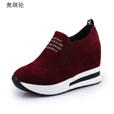 9b7ed993491 Qoo10 - 2017 Autumn new Korean Style shoes female Rounded Toe thick Bottom  Hid...   Men s Bags   Sho.