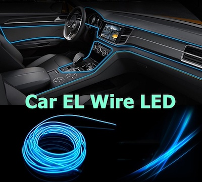 qoo10 car el wire led automotive industry. Black Bedroom Furniture Sets. Home Design Ideas