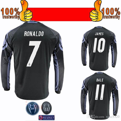 promo code 96989 2b3c6 2017 Champions League Soccer Jersey 2016/17 Real Madrid Soccer Jersey 16 17  3RD Long Sleeve Football