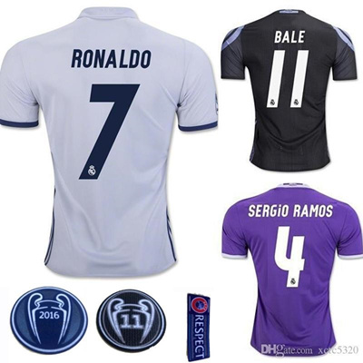 on sale 7419b 67436 2017 Champions League Soccer Jersey 2016/17 Real Madrid Soccer Jersey 16 17  Home Away 3rd Football S